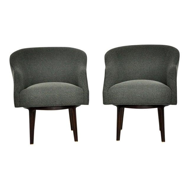 Dunbar Swivel Lounge Chairs by Edward Wormley - Image 1 of 9