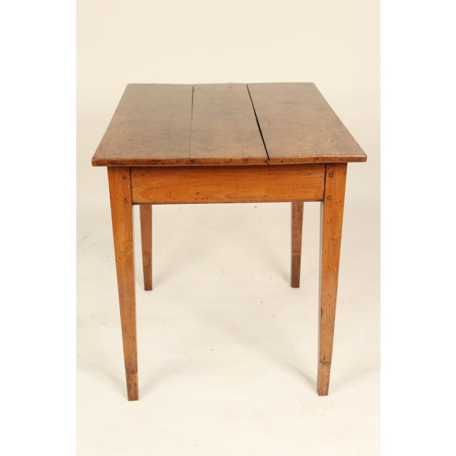 Louis XVI 19th Century Neoclassical Fruit Wood Occasional Table For Sale - Image 3 of 12