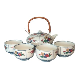 Chinese Asian Porcelain Tea Service - Set of 5 For Sale