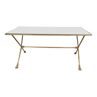 French Brass Cocktail Table in the Manner of Maison Jansen, 1950s For Sale