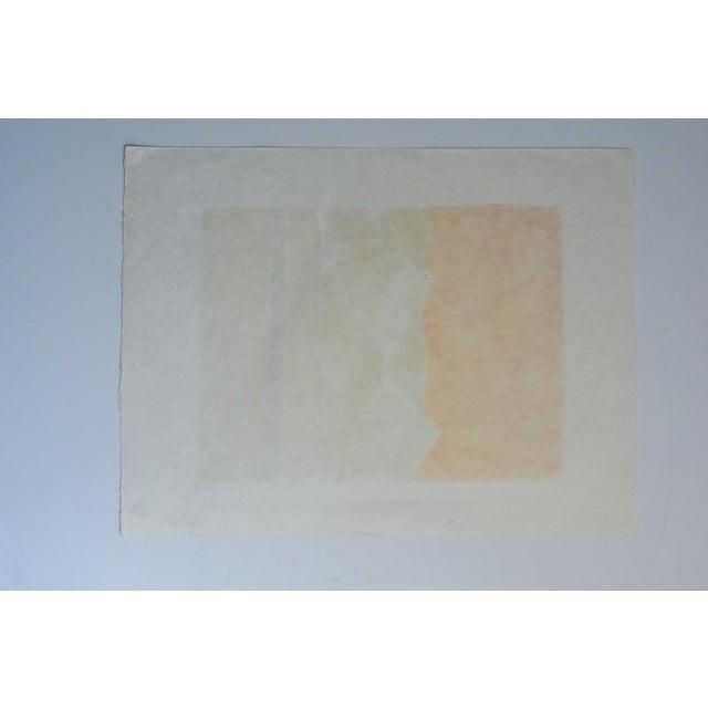 "Orange 1980s Bernard Cathelin ""Haiku"" Lithograph Print For Sale - Image 8 of 9"