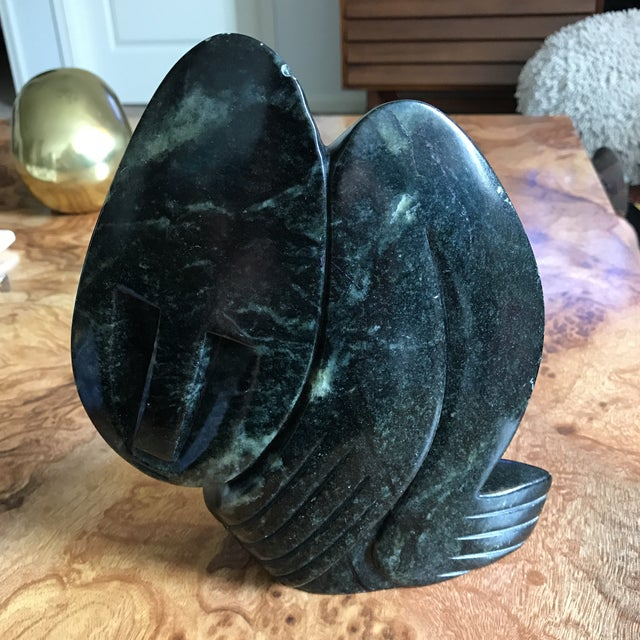 Signed Hand Carved Verdite by Ngoni Mrewa - Figure - Noted Zimbabwe Contemporary Stone Artist Zimbabwe stone carvers are...