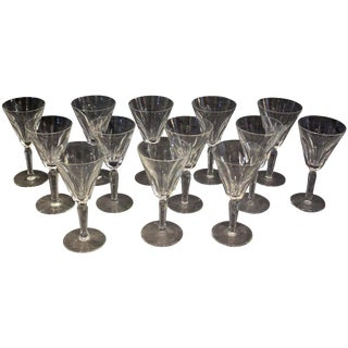 Waterford Sheila White Wine Glasses - Set of 13 For Sale