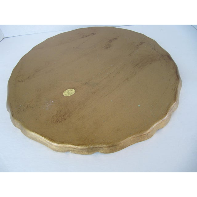 Italian Gold Italian Tray For Sale - Image 3 of 4