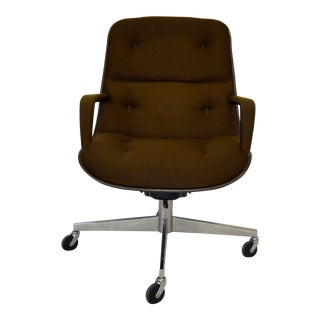 Brown Charles Pollock for Knoll Office Chair