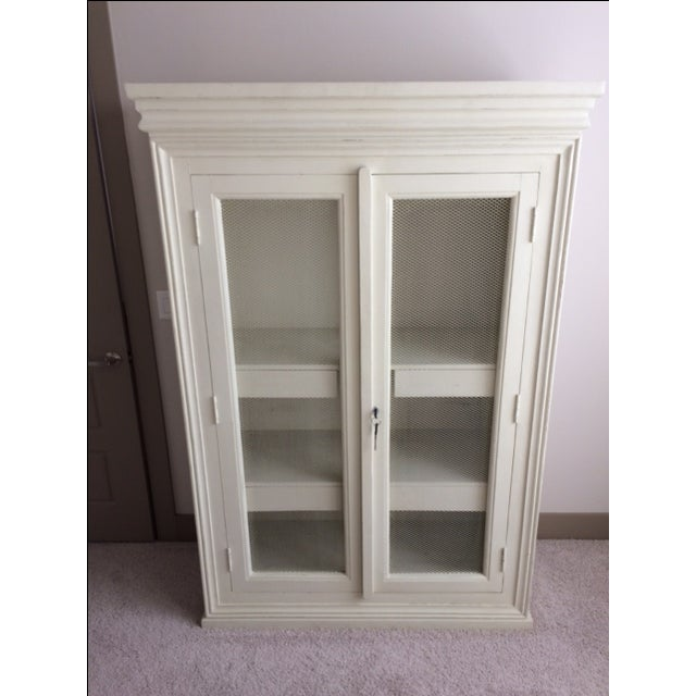 Distressed Blanc d'Ivoire Painted Armoire - Image 2 of 3