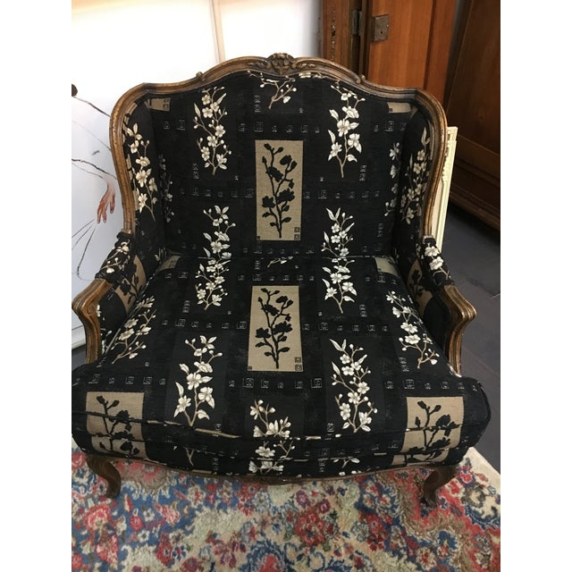Oversized Black Ornate Chair - Image 3 of 4