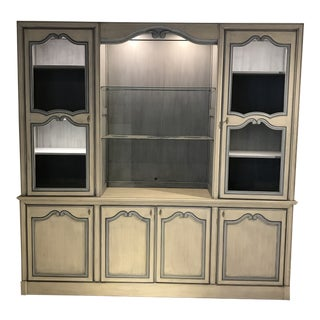 1980s French Entertainment Center Cupboard Armoire For Sale