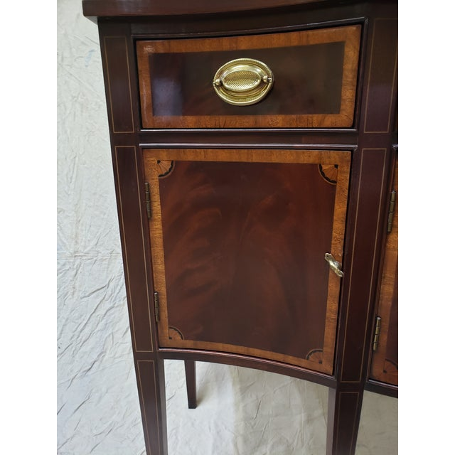 Gold 1980s Traditional Hickory American Masterpiece Collection Sideboard Server For Sale - Image 8 of 13