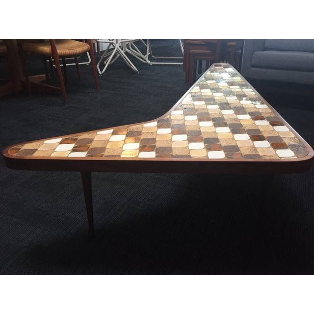 Richard Hohenberg Boomerang Mosaic Tile Table - Image 3 of 4