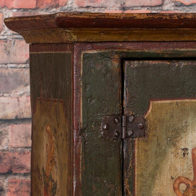 Late 20th Century 20th Century Traditional Two Door Hand Painted Cabinet For Sale - Image 5 of 9