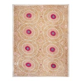 """Image of Tribal Embroidery Wall Decor, Suzani Bedspread 8'2"""" X 11'6"""" For Sale"""
