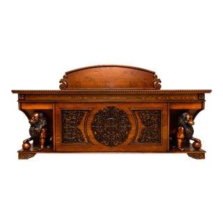 Contemporary Hand Carved Executive Desk For Sale