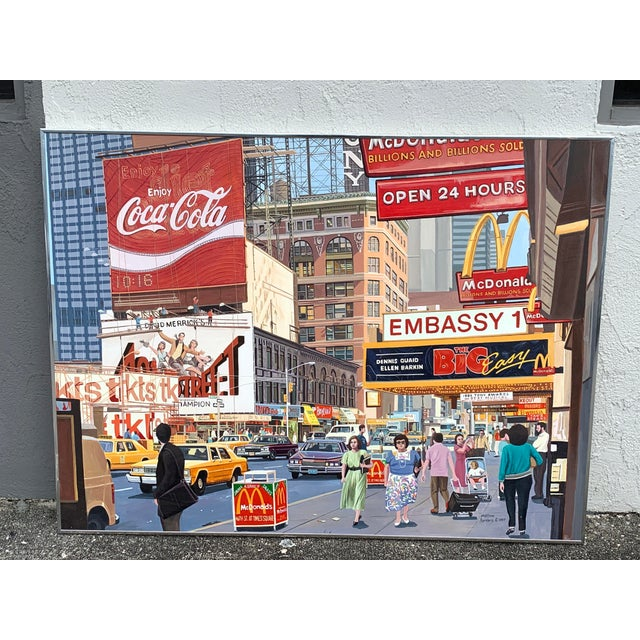 1987 Nyc- Times Square Pop Art Original Painting by Matthew Popielarz For Sale - Image 10 of 11