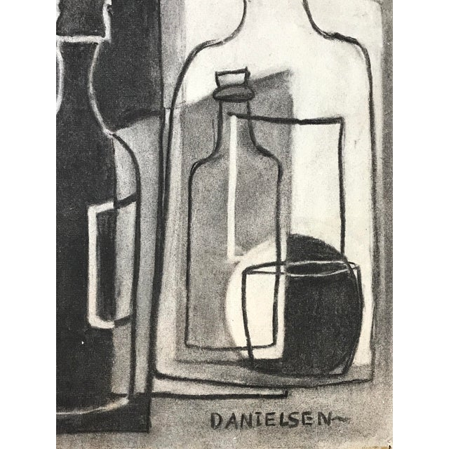 1930s 1930s Cubist Greyscale Still Life Student Drawing For Sale - Image 5 of 8