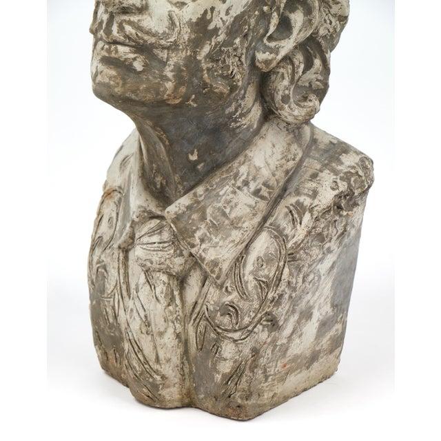 Salvador Dali Vintage Stone Sculpture Bust For Sale - Image 10 of 10