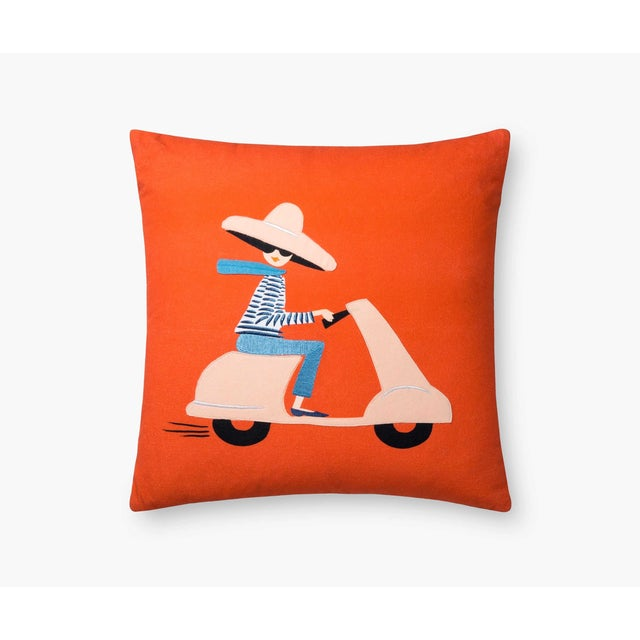 2020s Scooter Girl Pillow from Kenneth Ludwig Chicago For Sale - Image 5 of 5