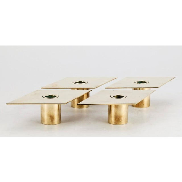 Mid-Century Modern Set of 4 Candleholders by Sigurd Persson For Sale - Image 3 of 5