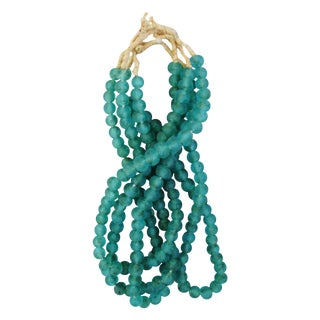Turquoise Glass Bead Strands - Set of 4