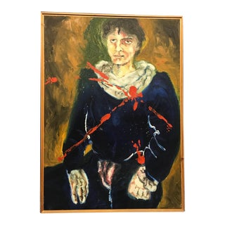 Self Portrait Oil Painting by Jaun Carlos Bronstein For Sale