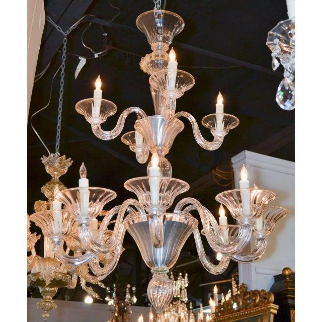 Beautiful Venetian Blown Glass Chandelier For Sale In Dallas - Image 6 of 9