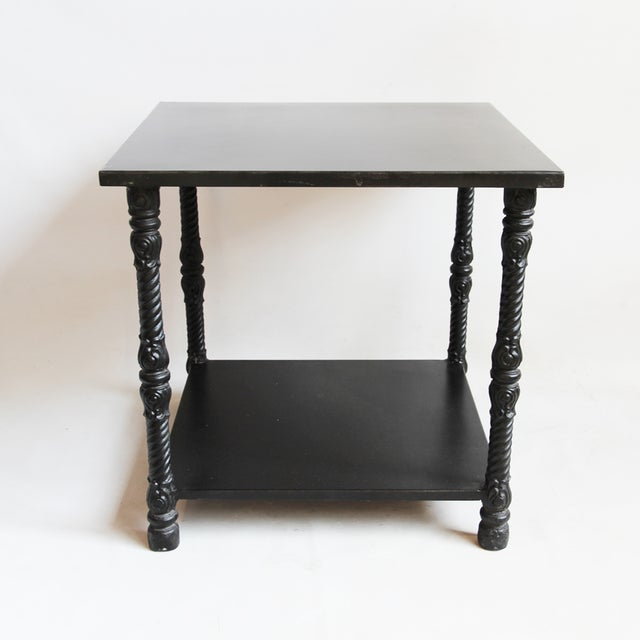Blackened Iron Side Table - Image 3 of 4