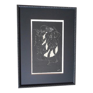Vintage Mid Century Ltd. Ed. Lithograph-Signed-Georges Braque-For Derriere Le Miroir-Folio-1951-Framed For Sale