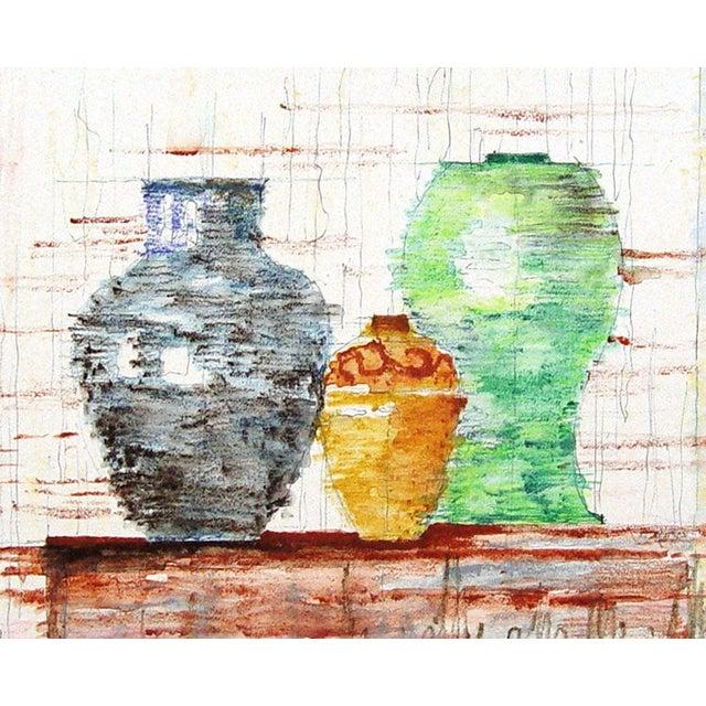 Modernist Still Life of Pottery - Image 1 of 2