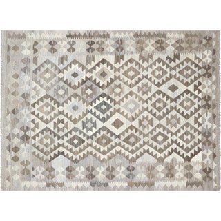 """Nalbandian - Contemporary Afghan Kilim - 4'7"""" X 6'4"""" For Sale"""