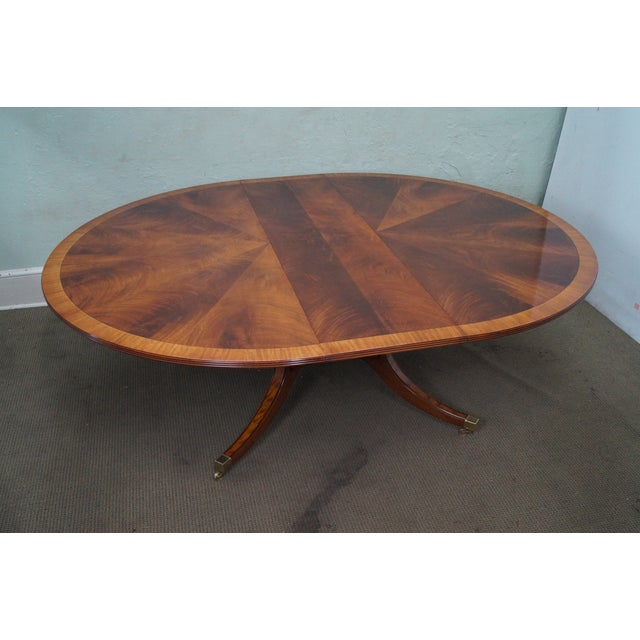 Flame Mahogany Duncan Phyfe Extension Dining Table - Image 8 of 10