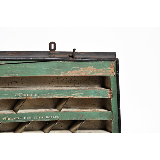 Black Mid 20th C. French Geology Wall Display For Sale - Image 8 of 13
