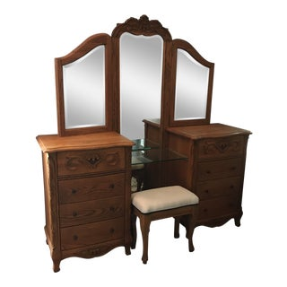 Versailles Collection Solid Oak Vanity