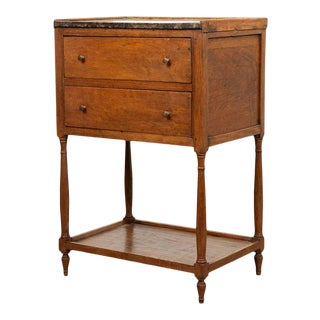 19th Century French Oak Bedside Table For Sale