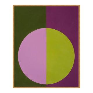 """Violet & Green Forever"" Large Gold Framed Print by Stephanie Henderson For Sale"