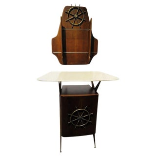 20th Century Nautical Bar and Wall Piece Set - 2 Pieces For Sale