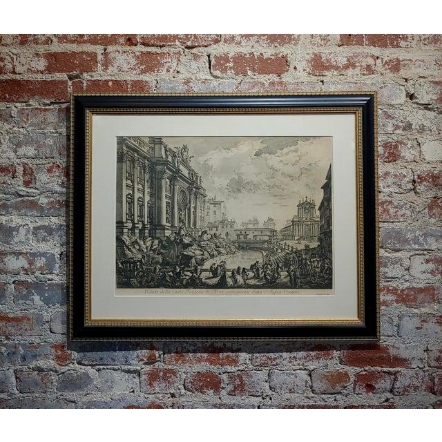 Giovanni Battista Piranesi -Veduta Della Fontana DI Trevi -18th Century Etching For Sale - Image 9 of 9