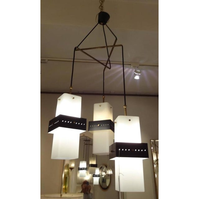 1960s Stilnovo Mobile Shaped Mid-Century Chandelier, Italy circa 1960 For Sale - Image 5 of 10