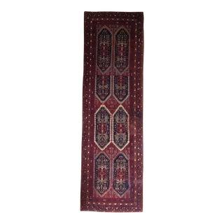 Caucasian Wool Runner - 2′11″ × 9′9″