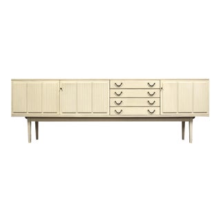 """White German 94"""" Credenza by Bartels For Sale"""