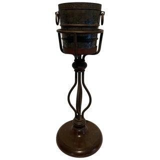 Bronze Champagne Bucket on Stand For Sale
