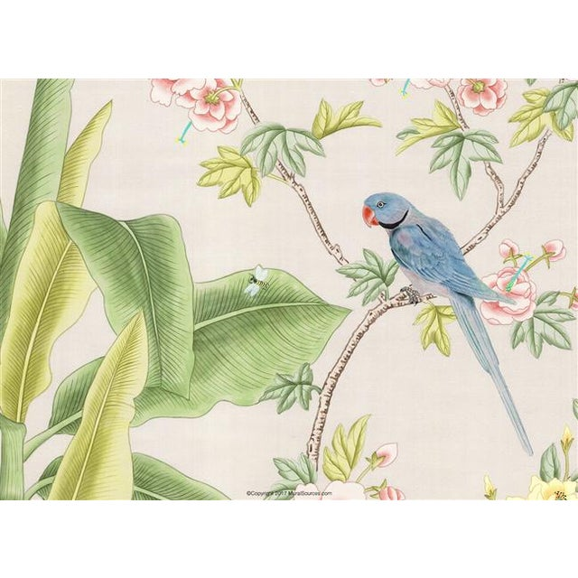 """Chinoiserie Casa Cosima Palisades Wallpaper Mural - 4 Panels 144"""" W X 108"""" H For Sale - Image 3 of 5"""