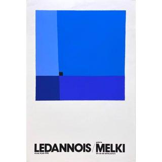 1976 Jean-Marie Ledannois Galerie Melki Exhibition Poster For Sale