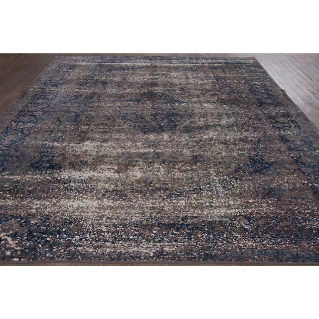 Traditional Vintage Overdyed Rug For Sale - Image 3 of 6