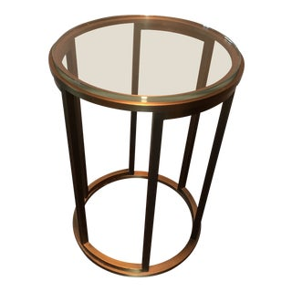 Hollywood Regency Thomas Pheasant for Baker Bronze Martini Side Table For Sale