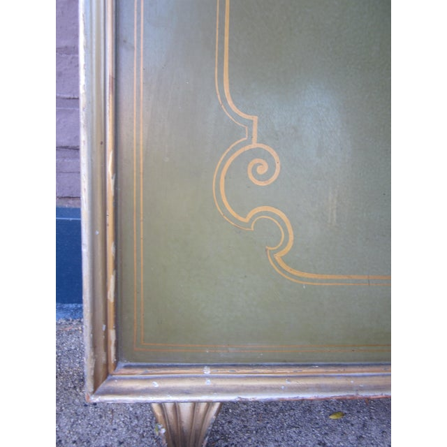 1920s Vintage Art Deco Chinoiserie Italian Atelier Green Painted Hall Tree Coat Rack For Sale - Image 10 of 13