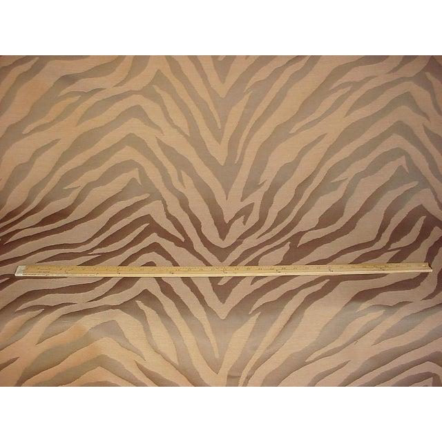 Kravet Kravet Solange Pecan Brown Silk Zebra Stripe Drapery Upholstery Fabric - 20y For Sale - Image 4 of 5