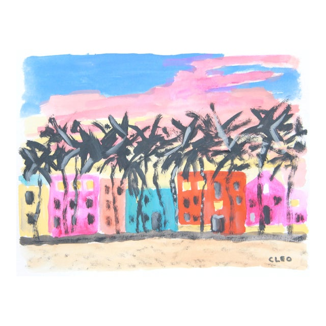 Miami Beach Abstract Painting by Cleo - Image 1 of 3