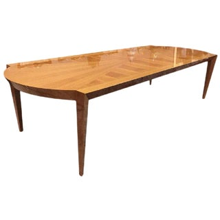 Mid Century Modern Dakota Jackson Australian Lacewood Dining / Conference Table For Sale