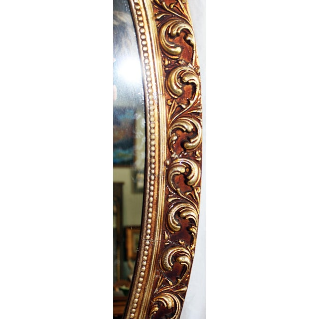 Early 20th Century Oval Baroque Gilt Gold Mirror For Sale - Image 5 of 7