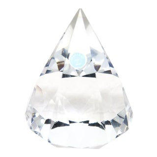1980s Contemporary Tiffany Crystal Diamond Paperweight For Sale